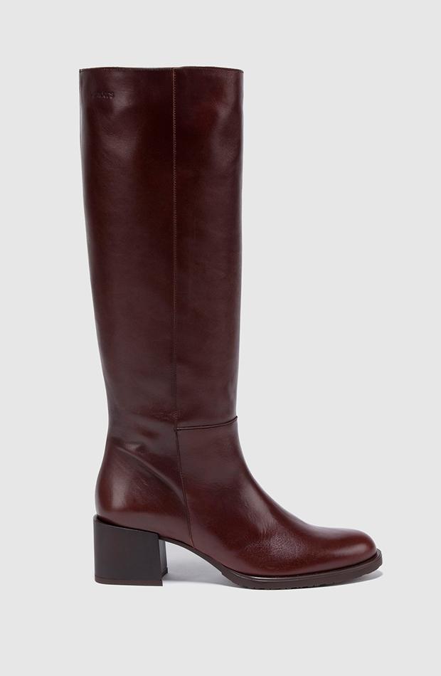 botas altas marrones wonders estilo setentero