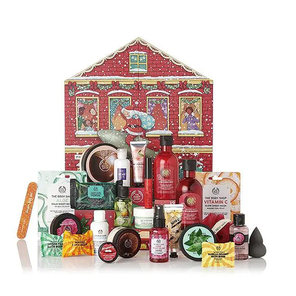 Calendario de adviento de belleza 2019 de The Body Shop