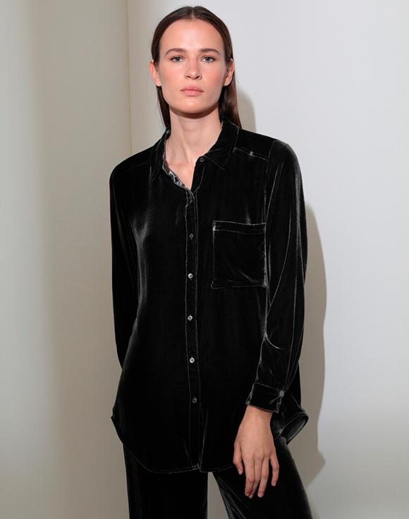 blusa negra woman el corte ingles prendas de terciopelo