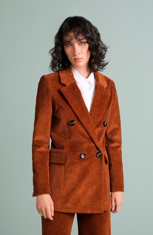 chaqueta marron tintoretto prendas de pana