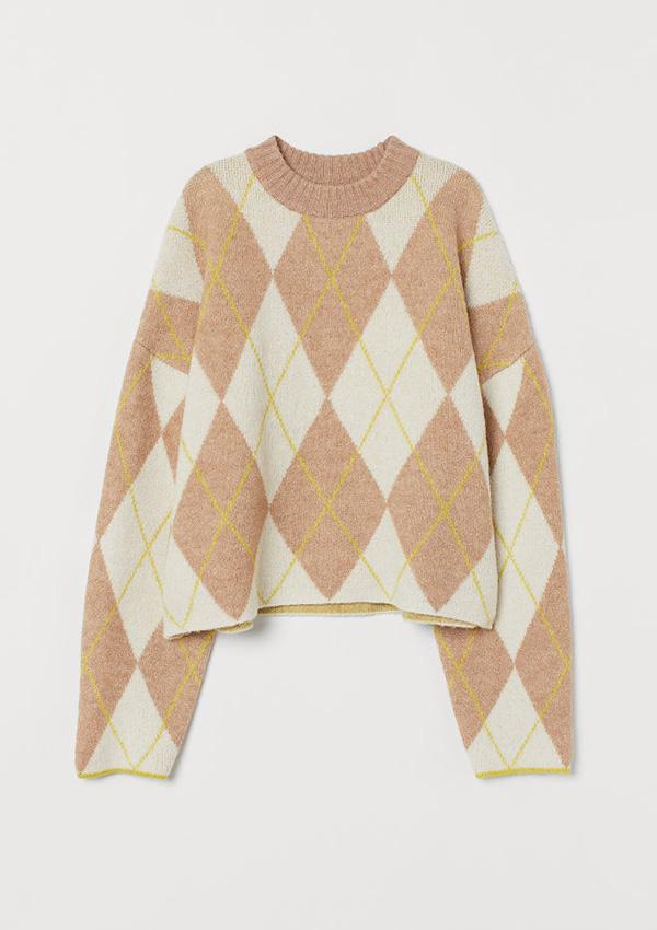 Jersey de estampado de rombos de H&M