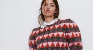 8 jerséis de estampado jacquard y manga abullonada para este invierno