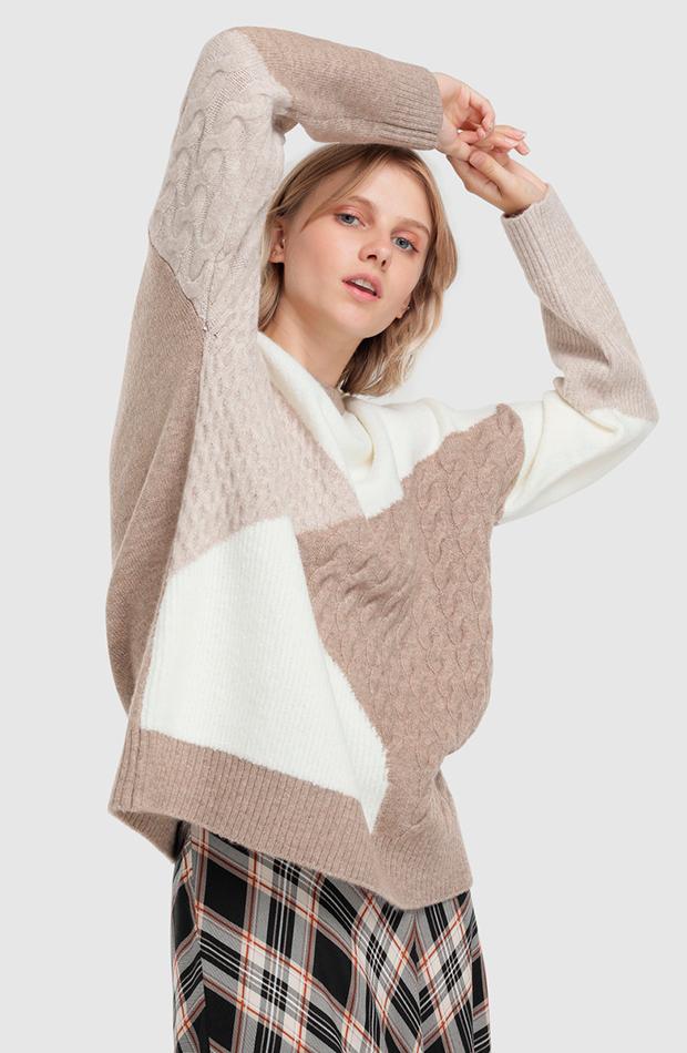 jersey estampado geométrico formula joven prendas oversize