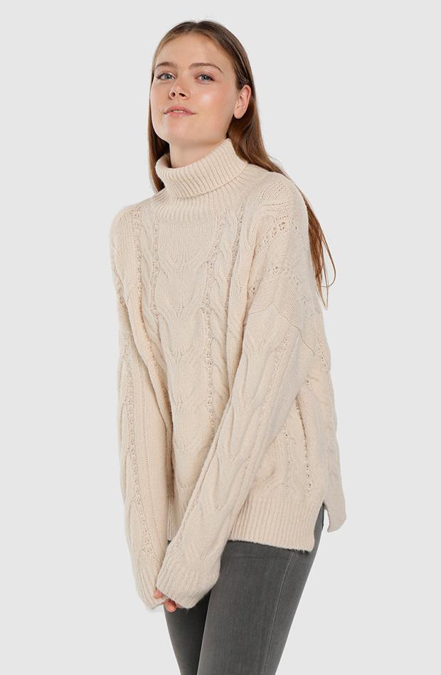 jersey oversize cuello cisne easy wear prendas oversize