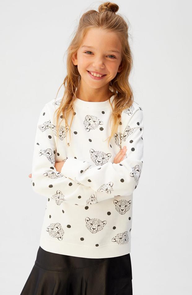 camiseta manga larga con tigres nina