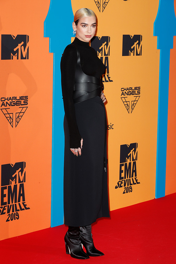 Dua Lipa en los MTV EMAs 2019