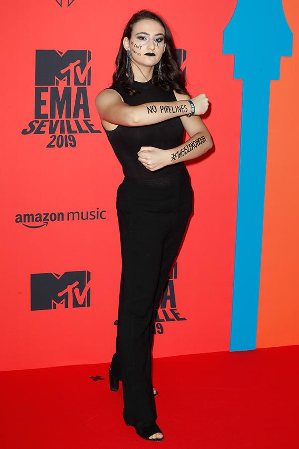 Jamie Margolin en los MTV EMAs 2019