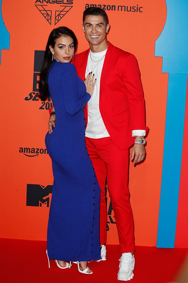 Cristiano Ronaldo y Georgina Rodriguez en los MTV EMAs 2019