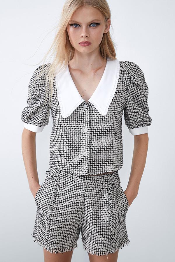 Cuerpo tweed de las Novedades de Zara de invierno