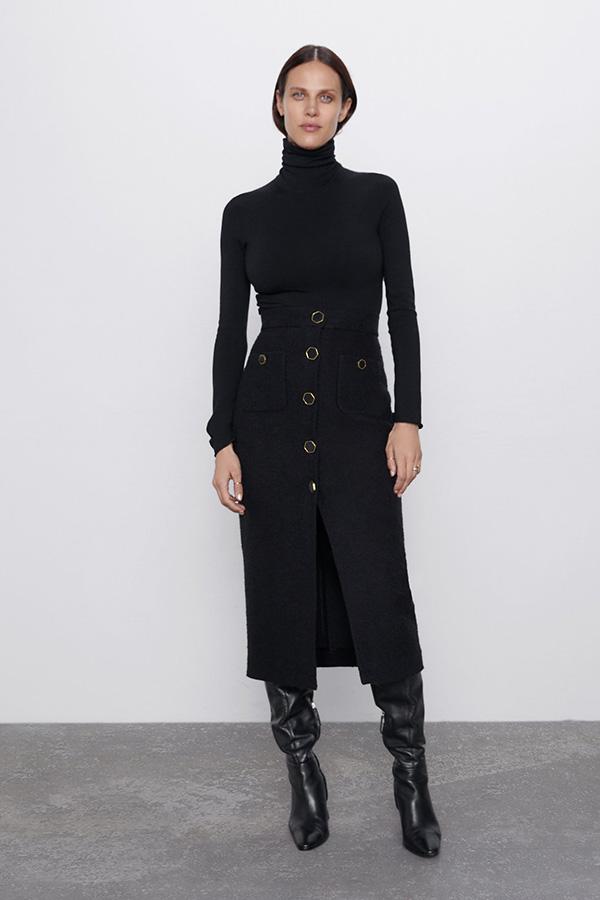 Falda de tubo de las Novedades de Zara de invierno