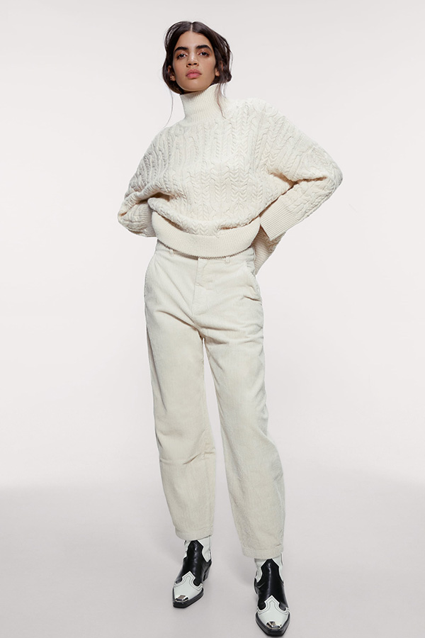 Pantalón slouchy de pana de las Novedades de Zara de invierno
