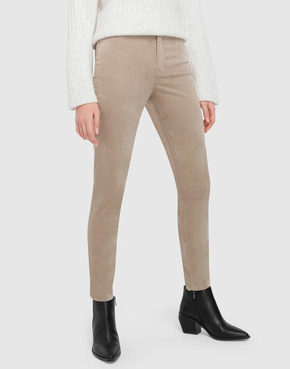 pantalon beige pitillo formula joven prendas de terciopelo