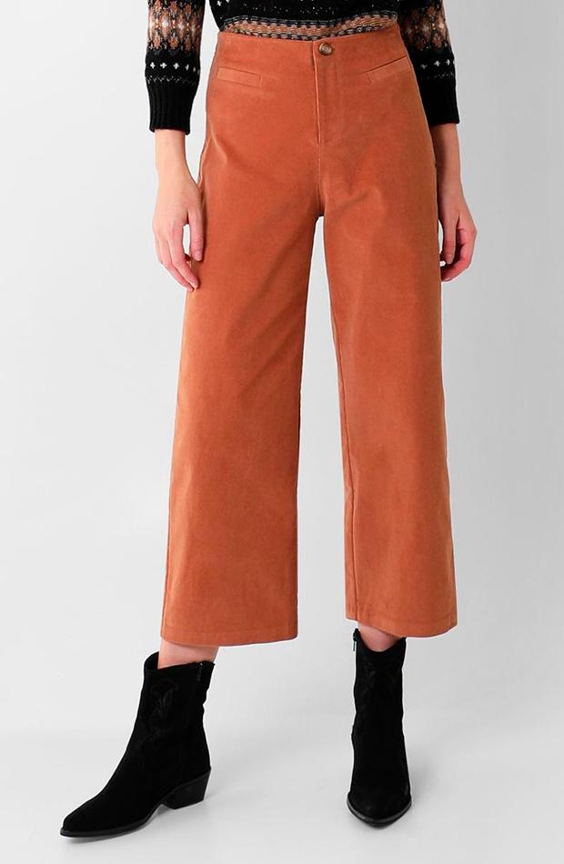 pantalon culotte naranja scalpers de pana