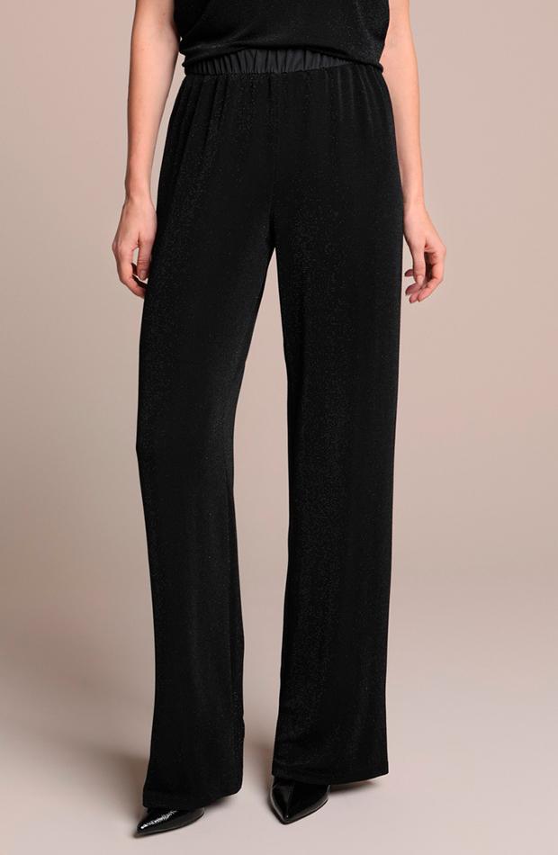 pantalón negro amplio lurex woman el corte ingles looks para cena de empresa