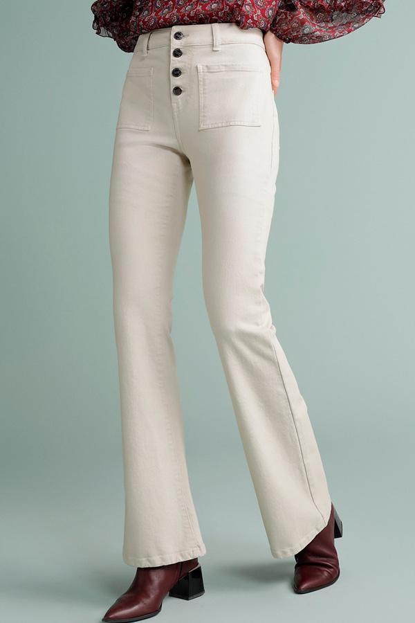 Jeans campana blancos de Tintoretto