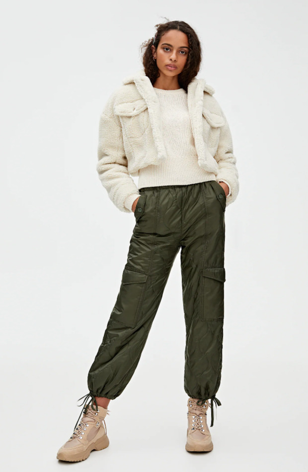 Prendas acolchadas pantalones Pull&Bear