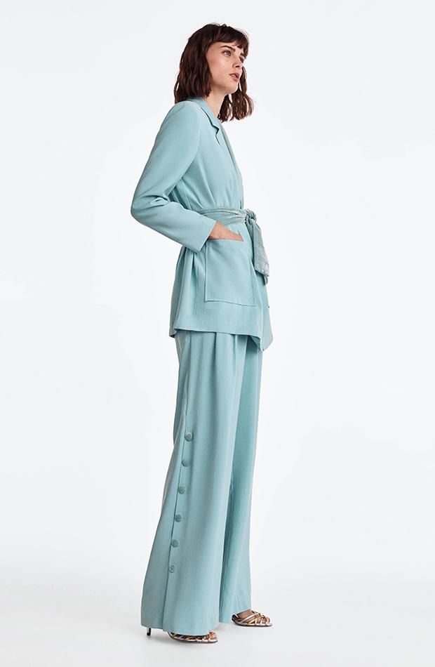 Trajes de chaqueta de invitada Uterqüe azul