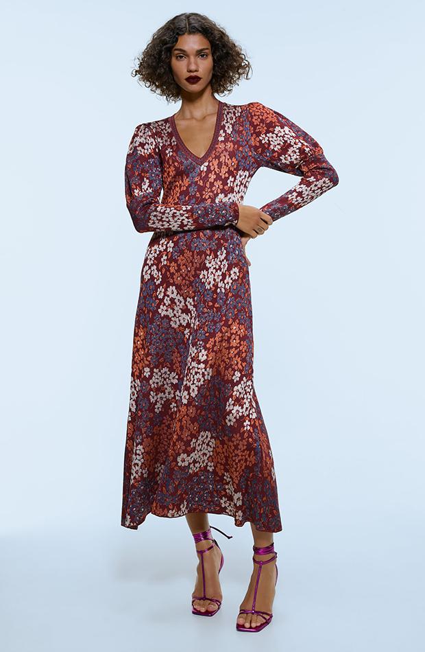 Vestidos de punto Zara floral