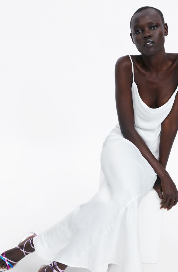 Vestidos de novia zara satinado
