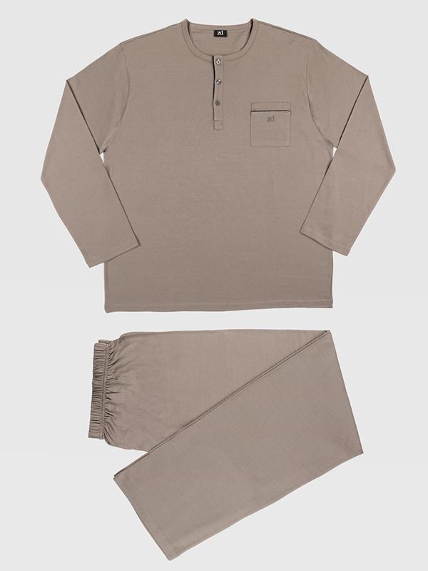 Pijamas de ZD Zero Defects en color topo