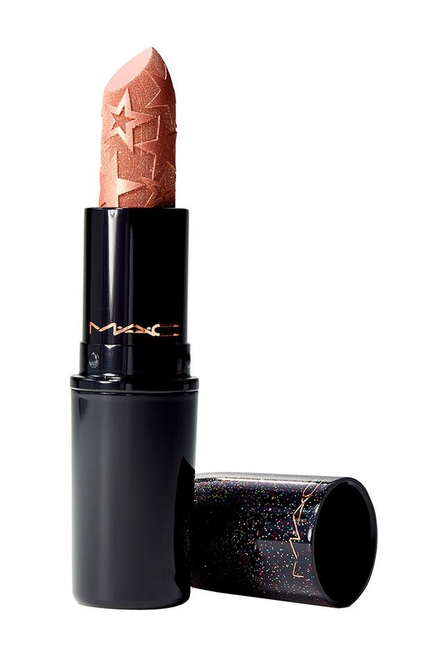 maquillaje de fiesta labial glitter nude