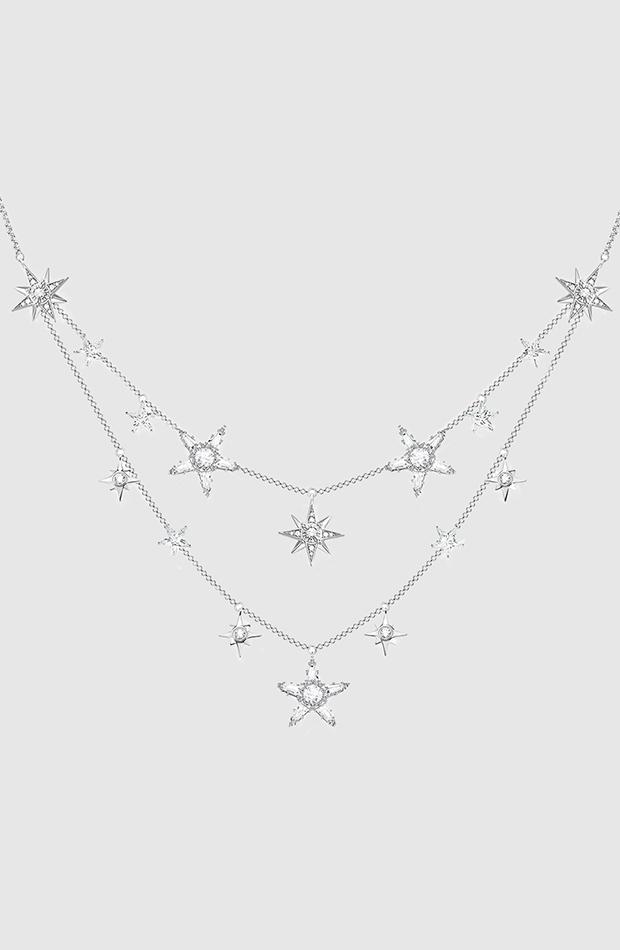 collar estrellas plata thomas sabo looks comida de navidad