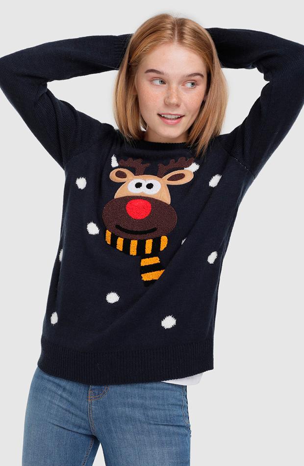 jersey navideno ciervo en el delantero easy wear looks comida de navidad