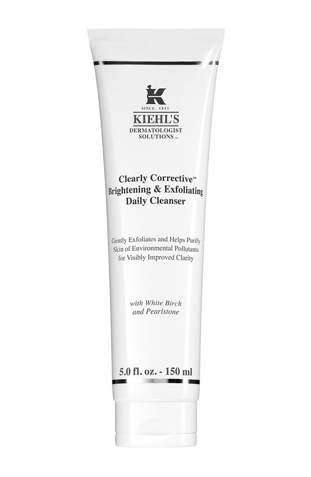 limpiador facial diario aclarador y exfoliante clearly corrective kiehls basicos para neceser