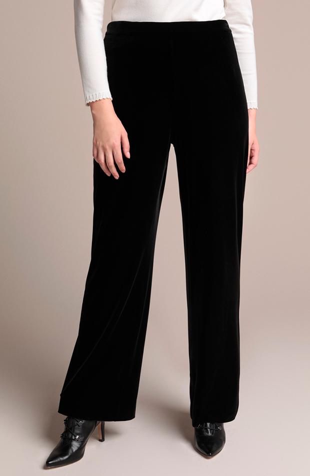 pantalon terciopelo negro woman el corte ingles looks comida de navidad