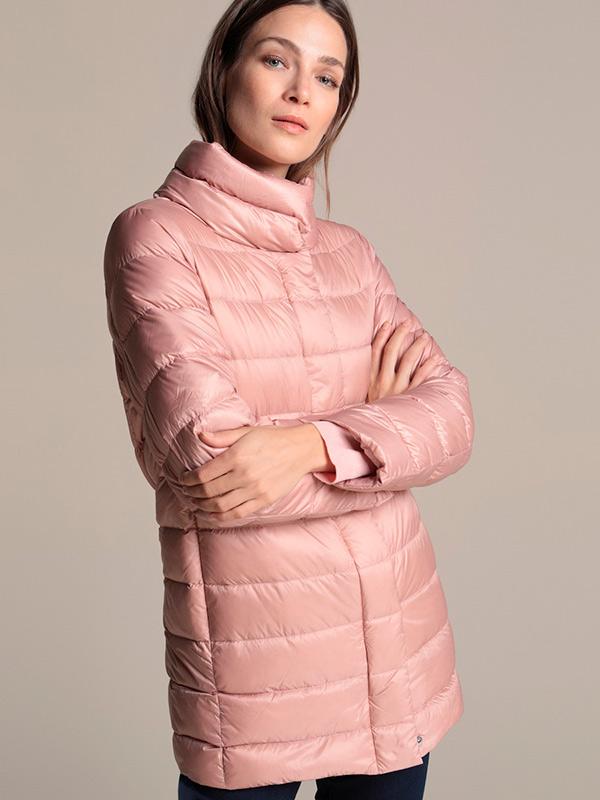 Plumífero rosa de Woman El Corte Inglés