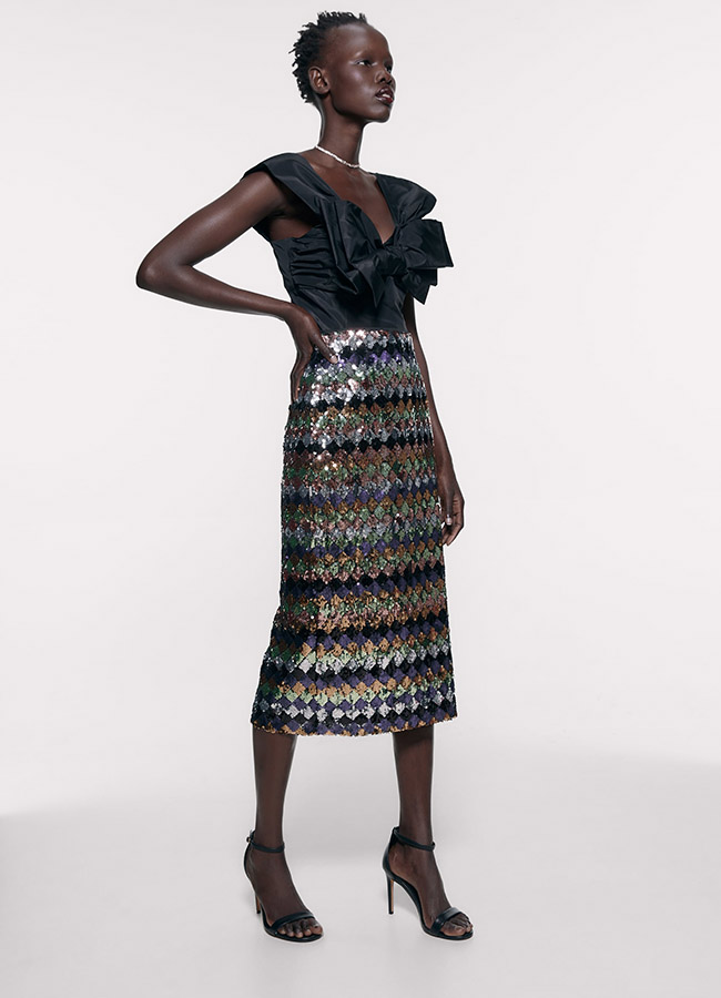 Falda de Zara de lentejuelas