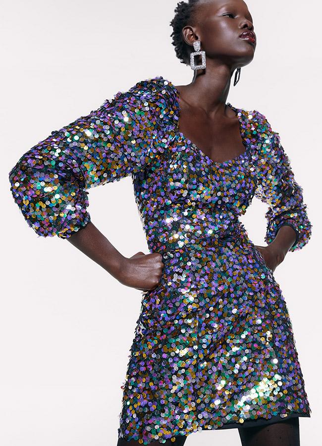 Vestido de Zara de lentejuelas