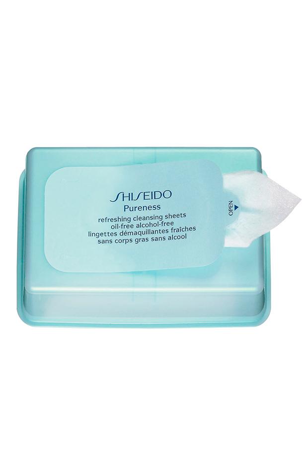 toallitas refreshing cleansing sheets shiseido basicos para neceser