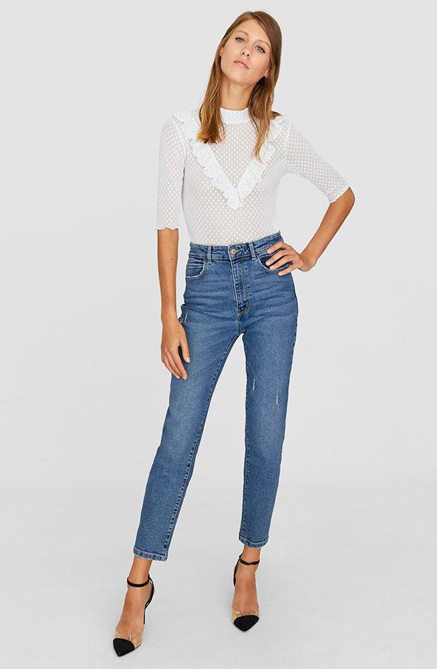 Mom jeans slim