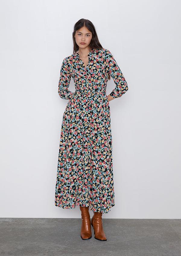 Vestido largo de Zara