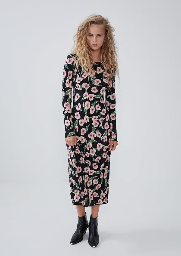 Vestido largo de Zara de flores