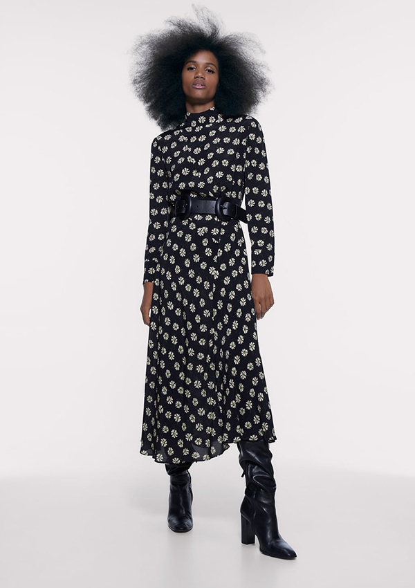 Vestido largo de Zara de margaritas
