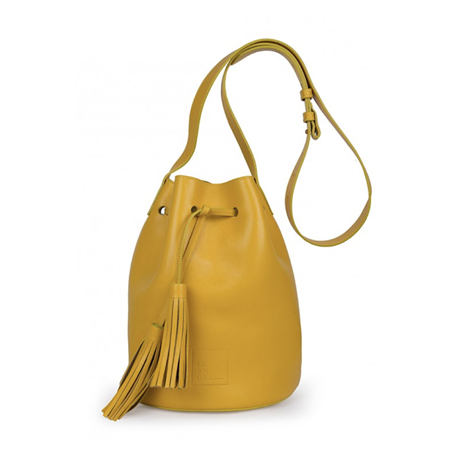 Bucket bag amarillo de Leandra