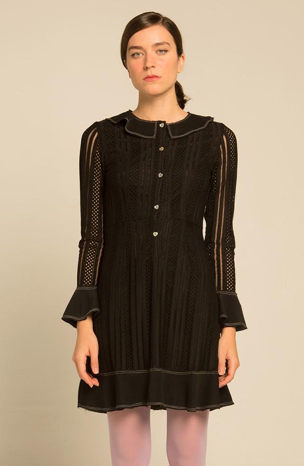 vestido mini calado de Kling