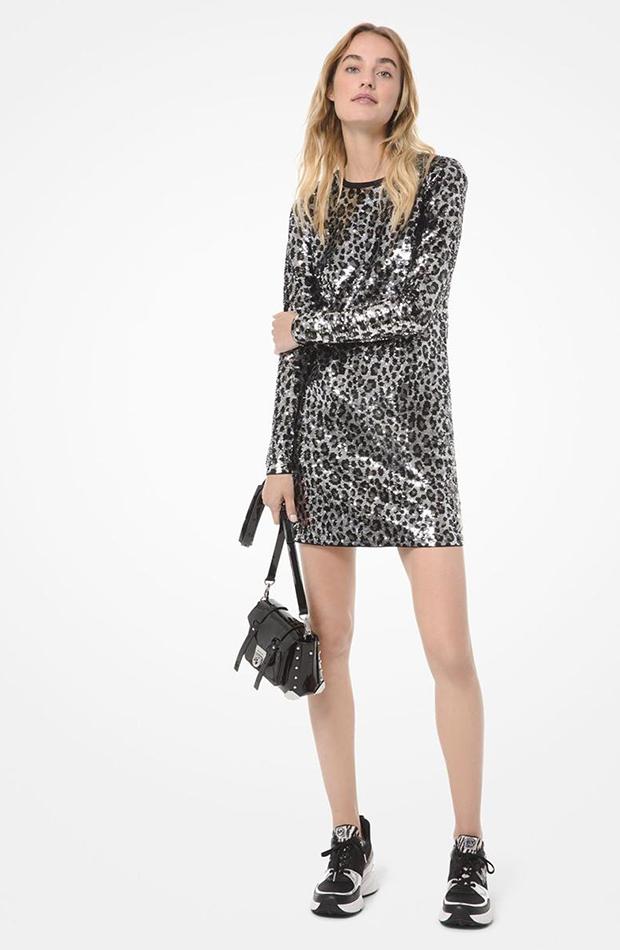 vestido mini leopardo Michael Kors