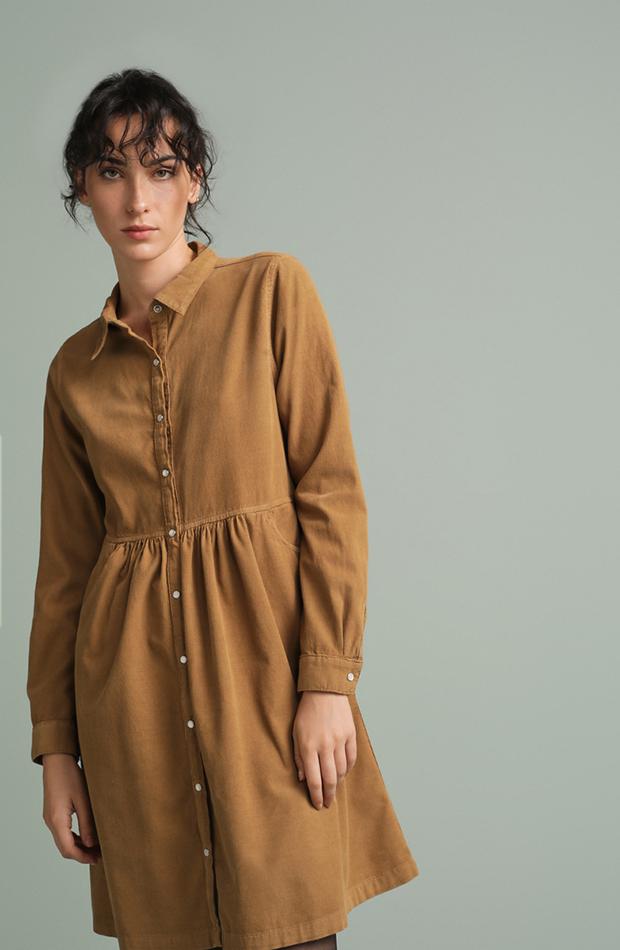 vestido mini de pana oversize Tintoretto