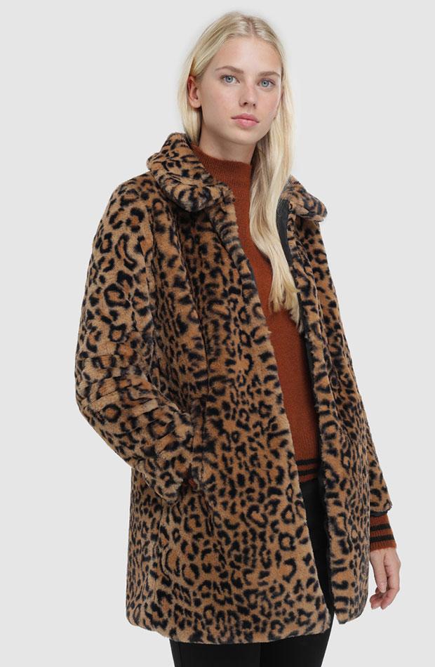 animal print abrigos de rebajas