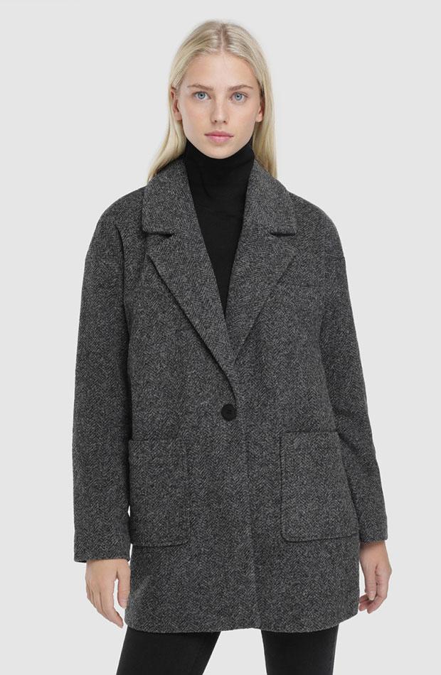 abrigos de rebajas gris