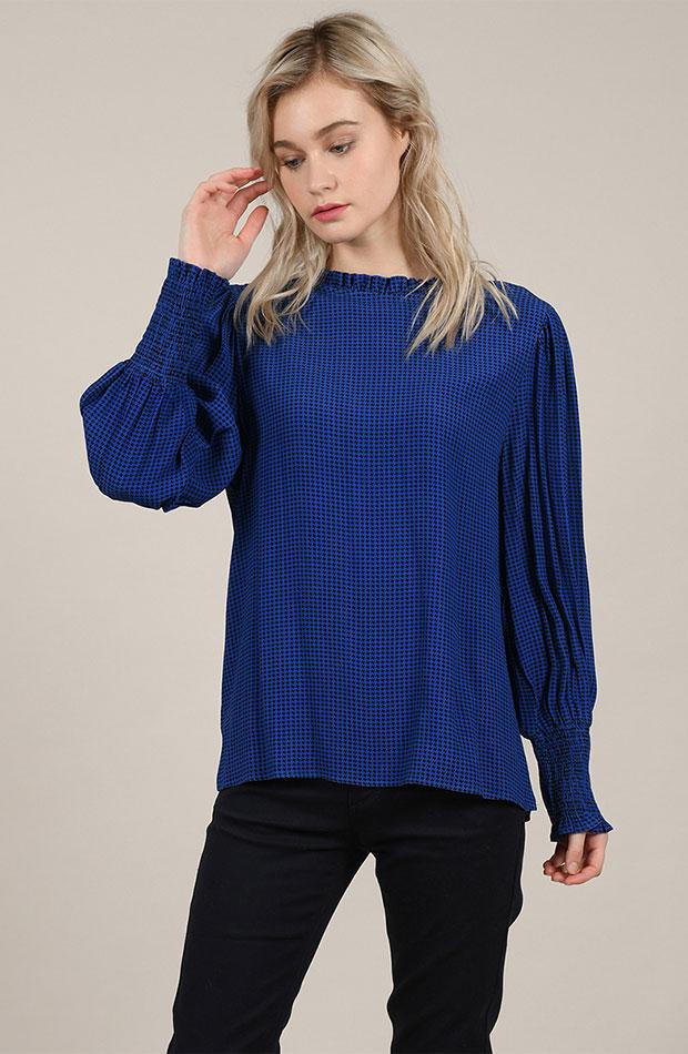 azul clasico blusa manda poeta