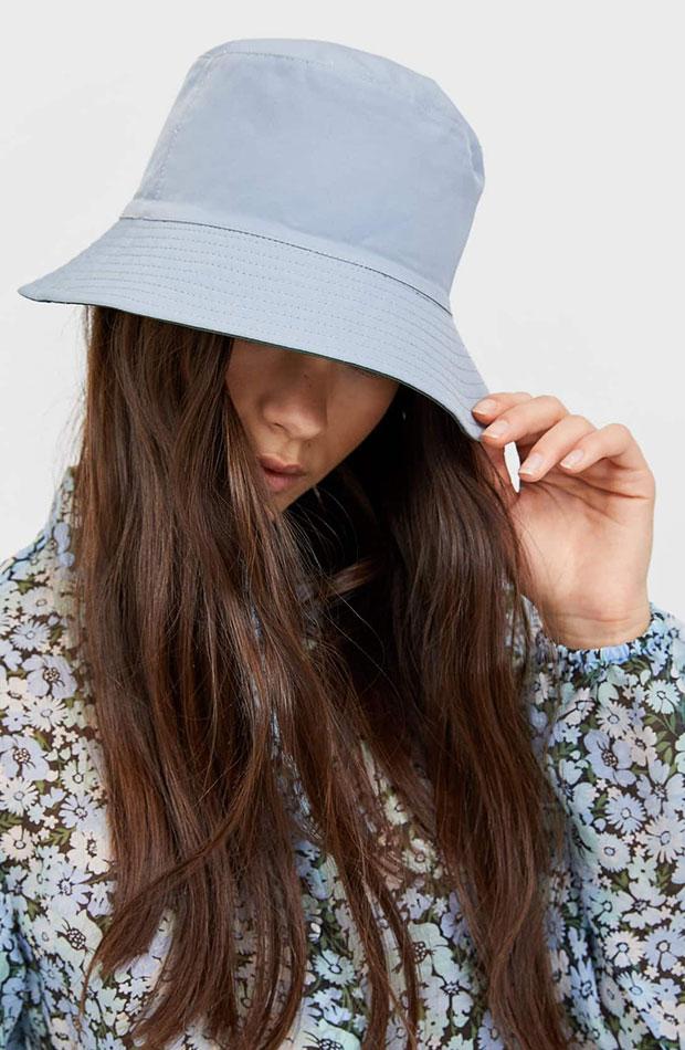 bucket hat azul