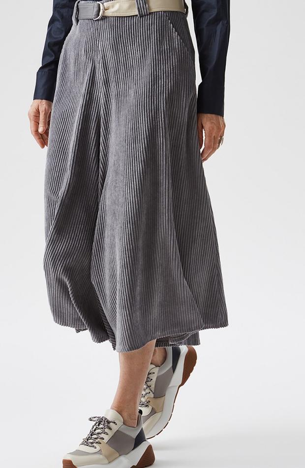 bermudas falda pantalón gris