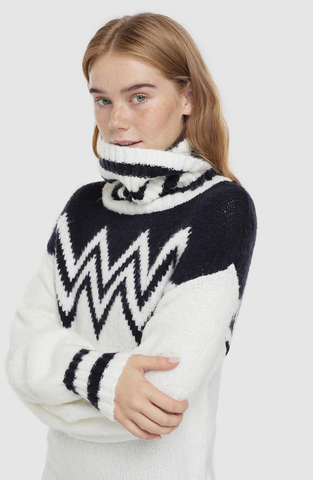jerseis de punto con cenefa y guantes