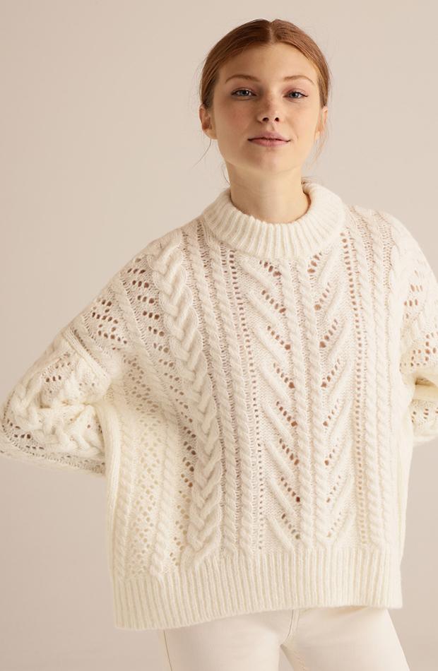 jerseis de punto blanco con ochos