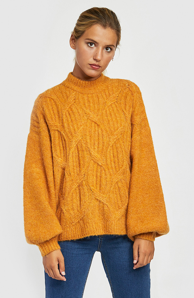 jersey amarillo manga abullonada