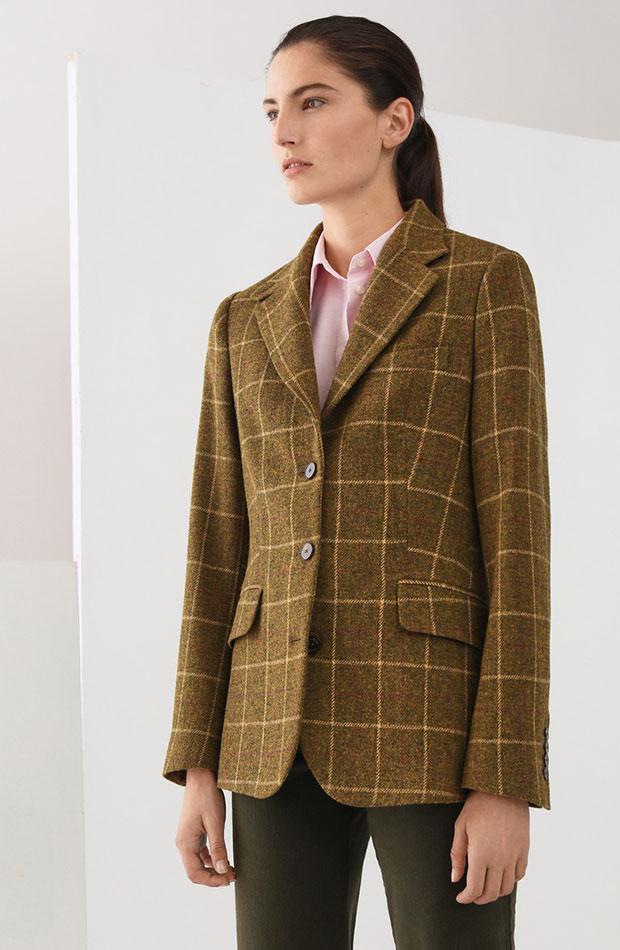 looks de oficina blazer de lana